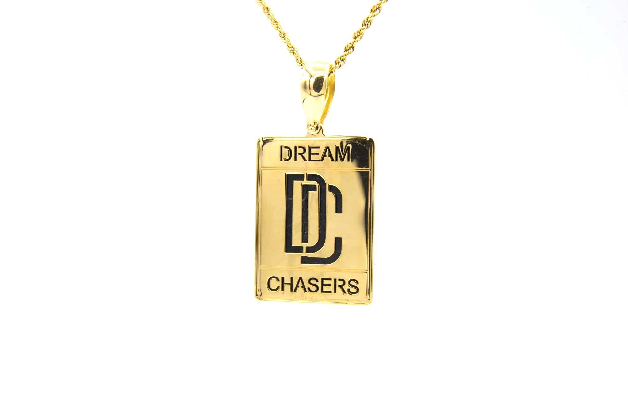 Hanger Dream Chaser glanzend met opengewerkte letters Large-1