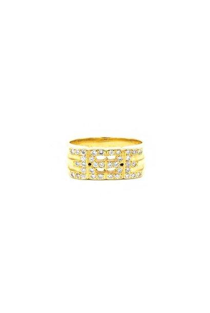 """""""Cesar"""" ring met diamant"""