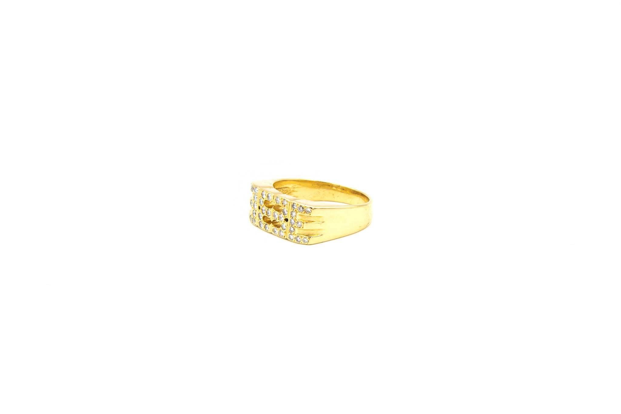 Ring fantasie opengewerkt met diamant-2