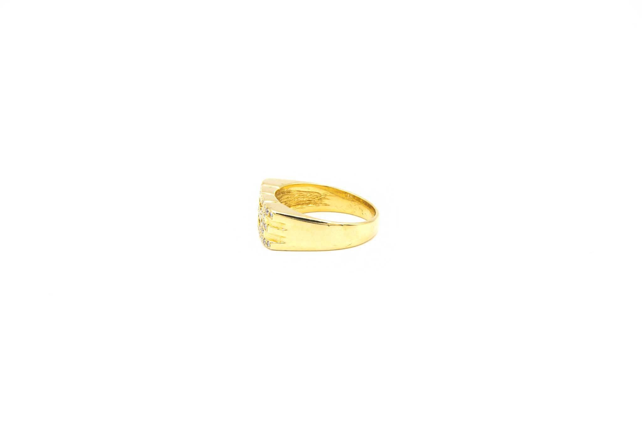 Ring fantasie opengewerkt met diamant-3