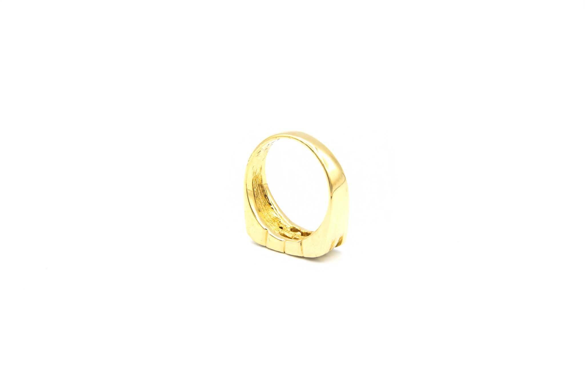 Ring fantasie opengewerkt met diamant-5
