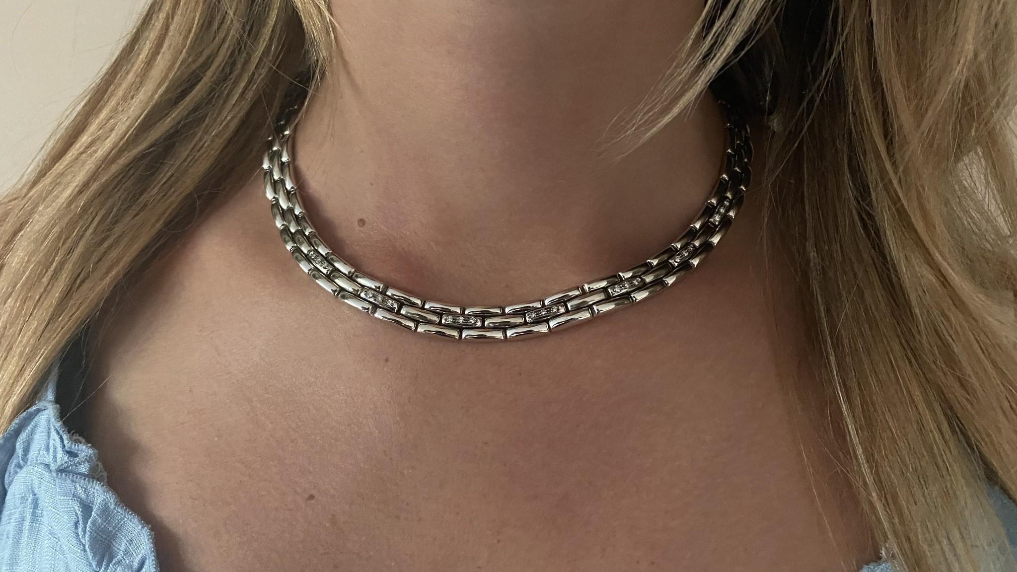 Collier witgoud met diamant-2