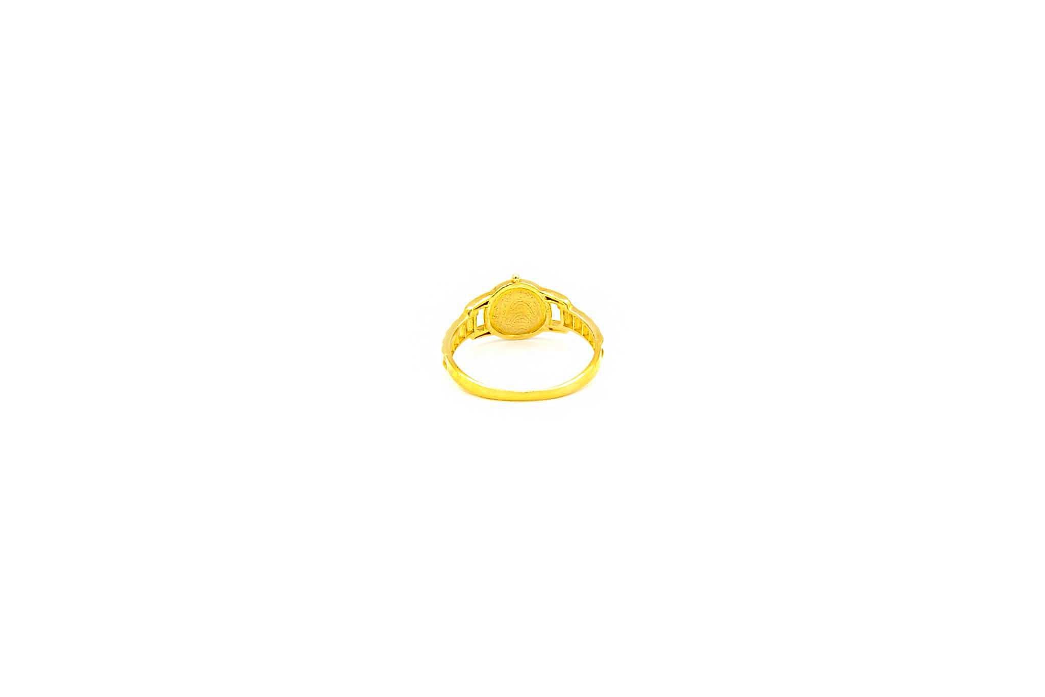 Ring horloge met gekleurde wijzerplaat-4