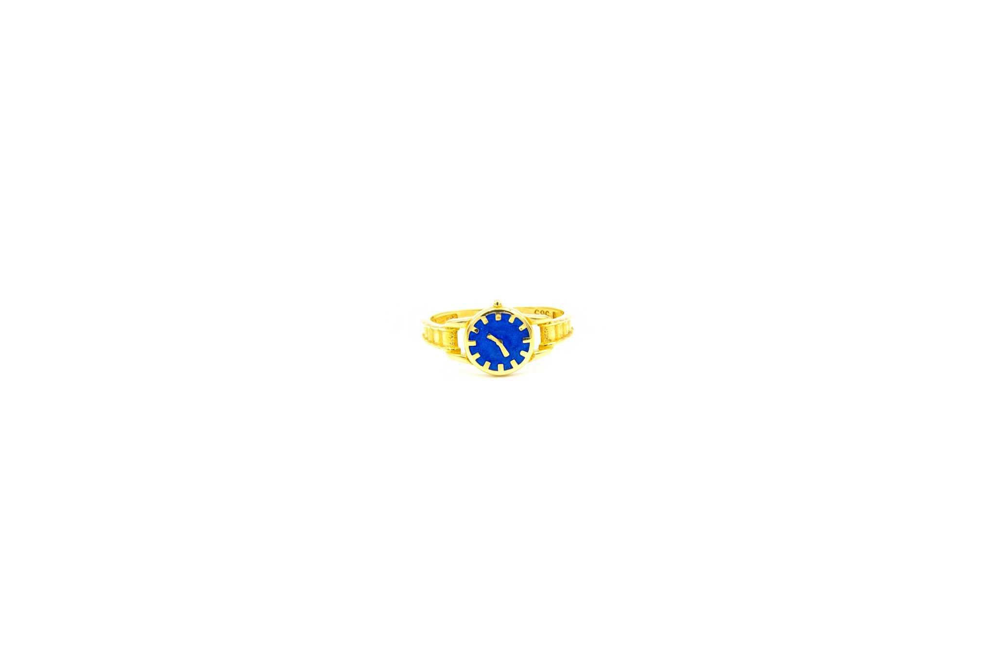 Ring horloge met gekleurde wijzerplaat-6