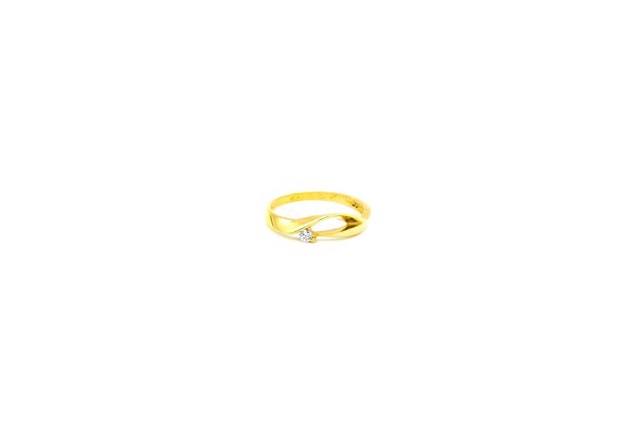 Ring fantasie opengewerkte band met zirkonia-1