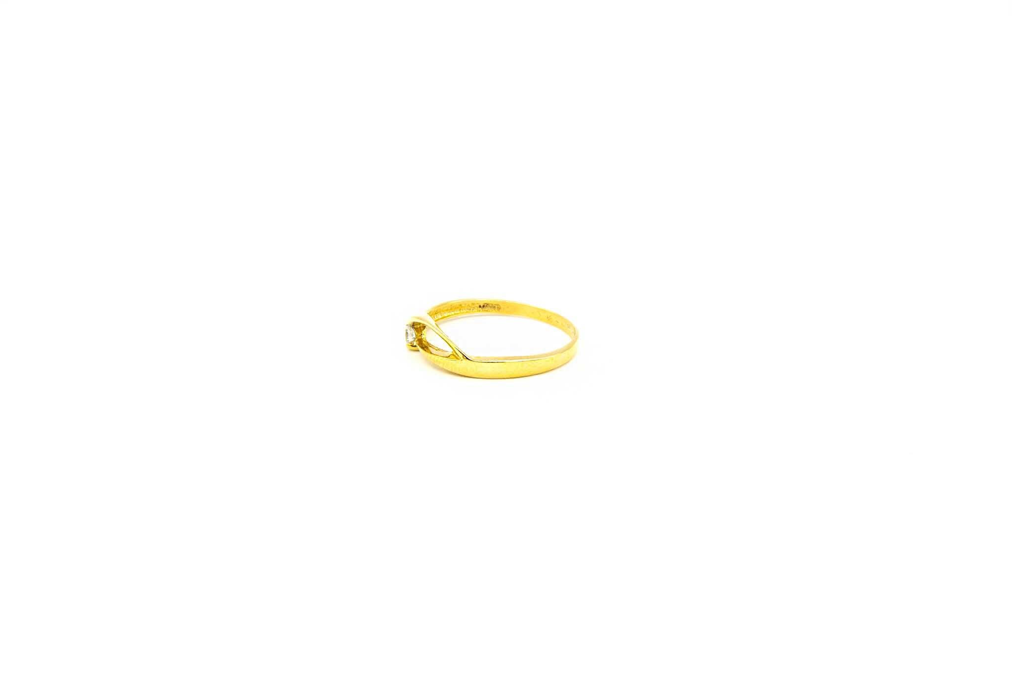Ring fantasie opengewerkte band met zirkonia-2