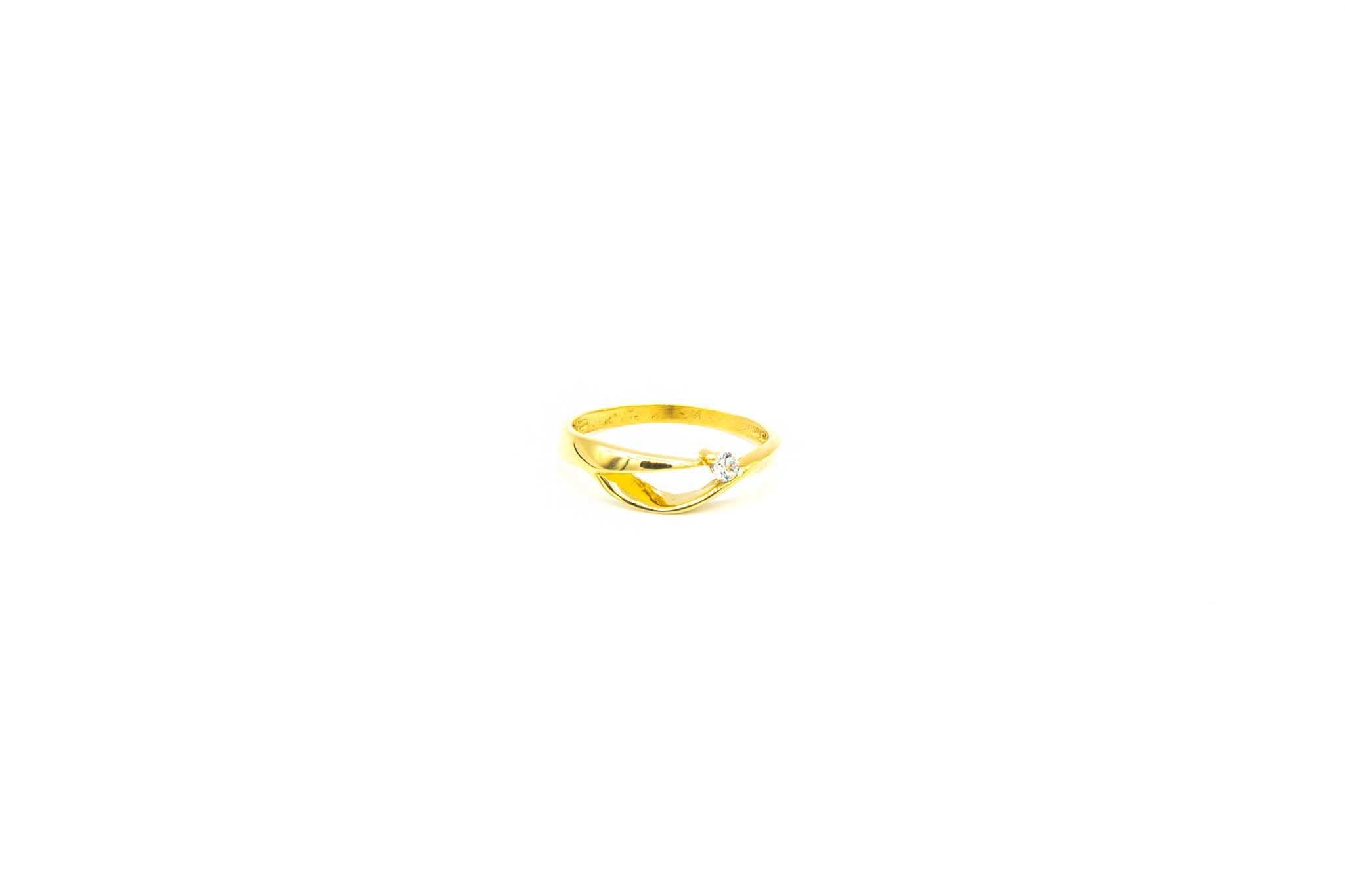 Ring fantasie opengewerkte band met zirkonia-3