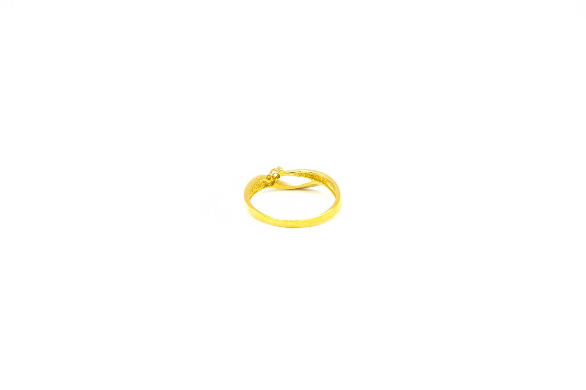 Ring fantasie opengewerkte band met zirkonia-4