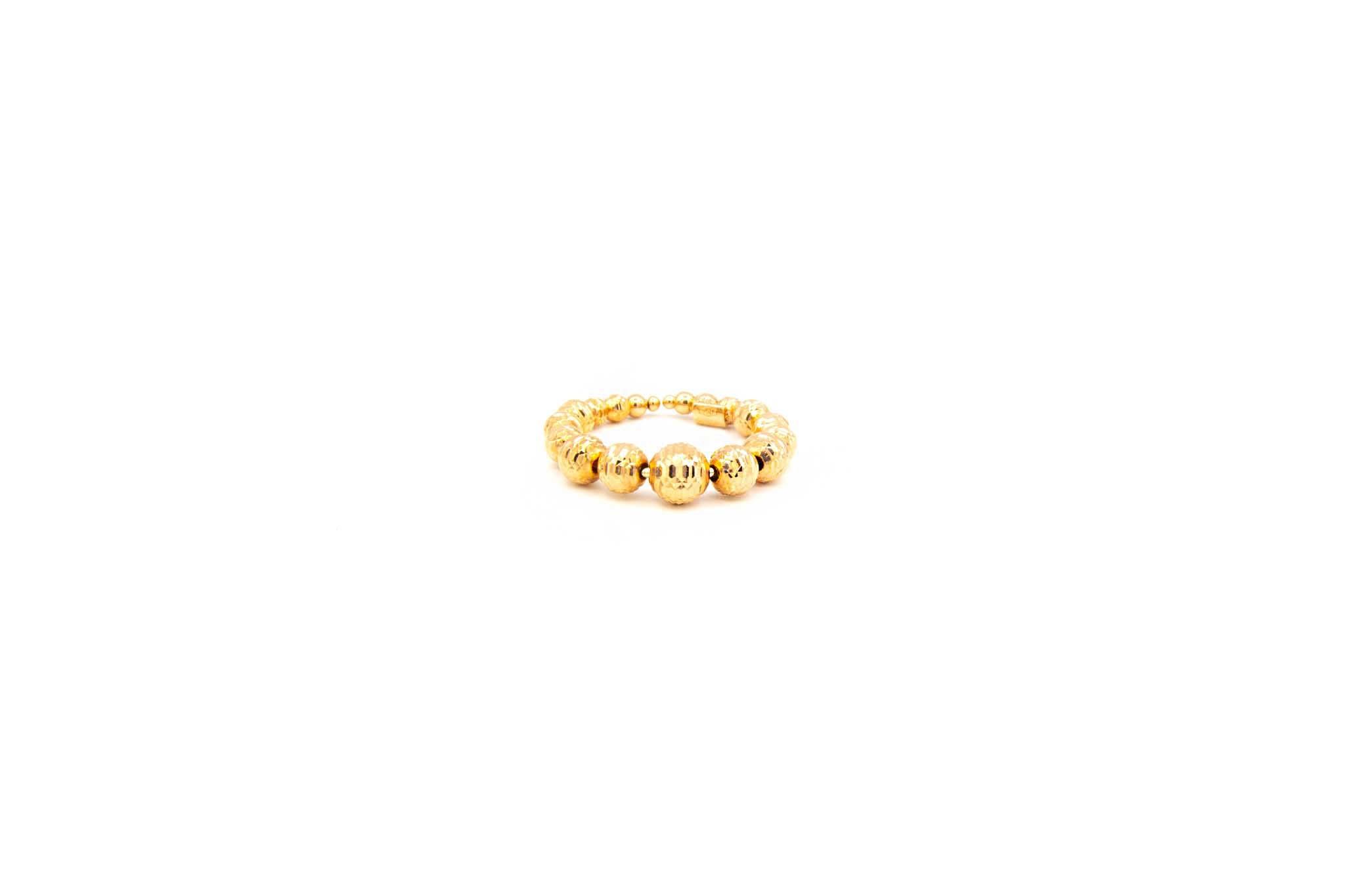 Ring rosé met diamond cut balletjes-1