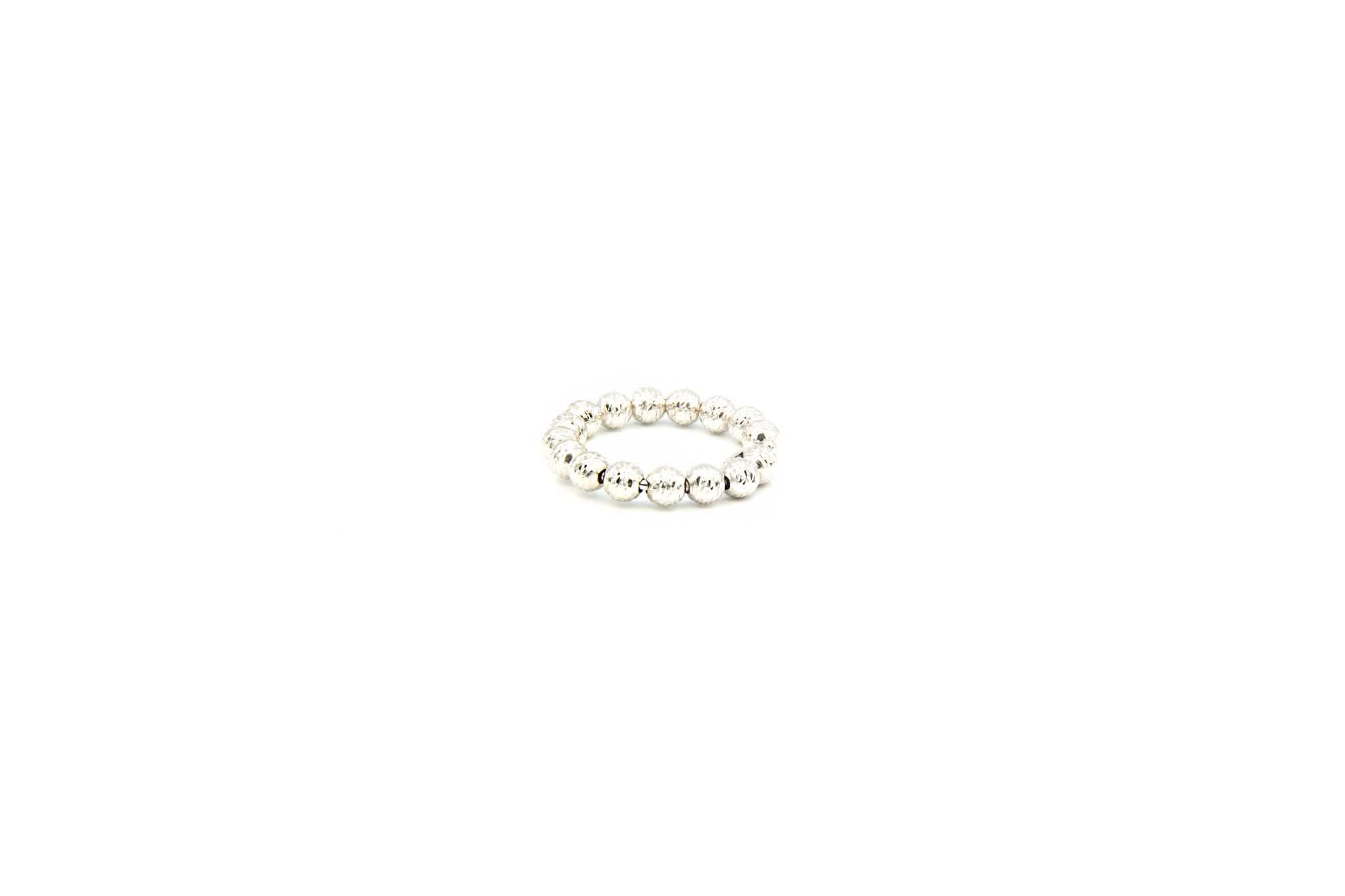 Ring witgoud met diamond cut balletjes-2