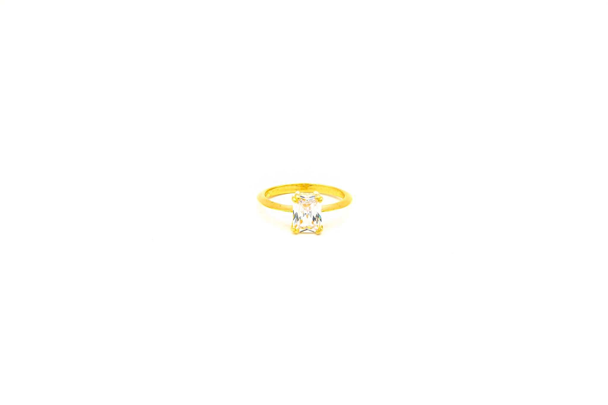 Ring solitair met zirkonia-1