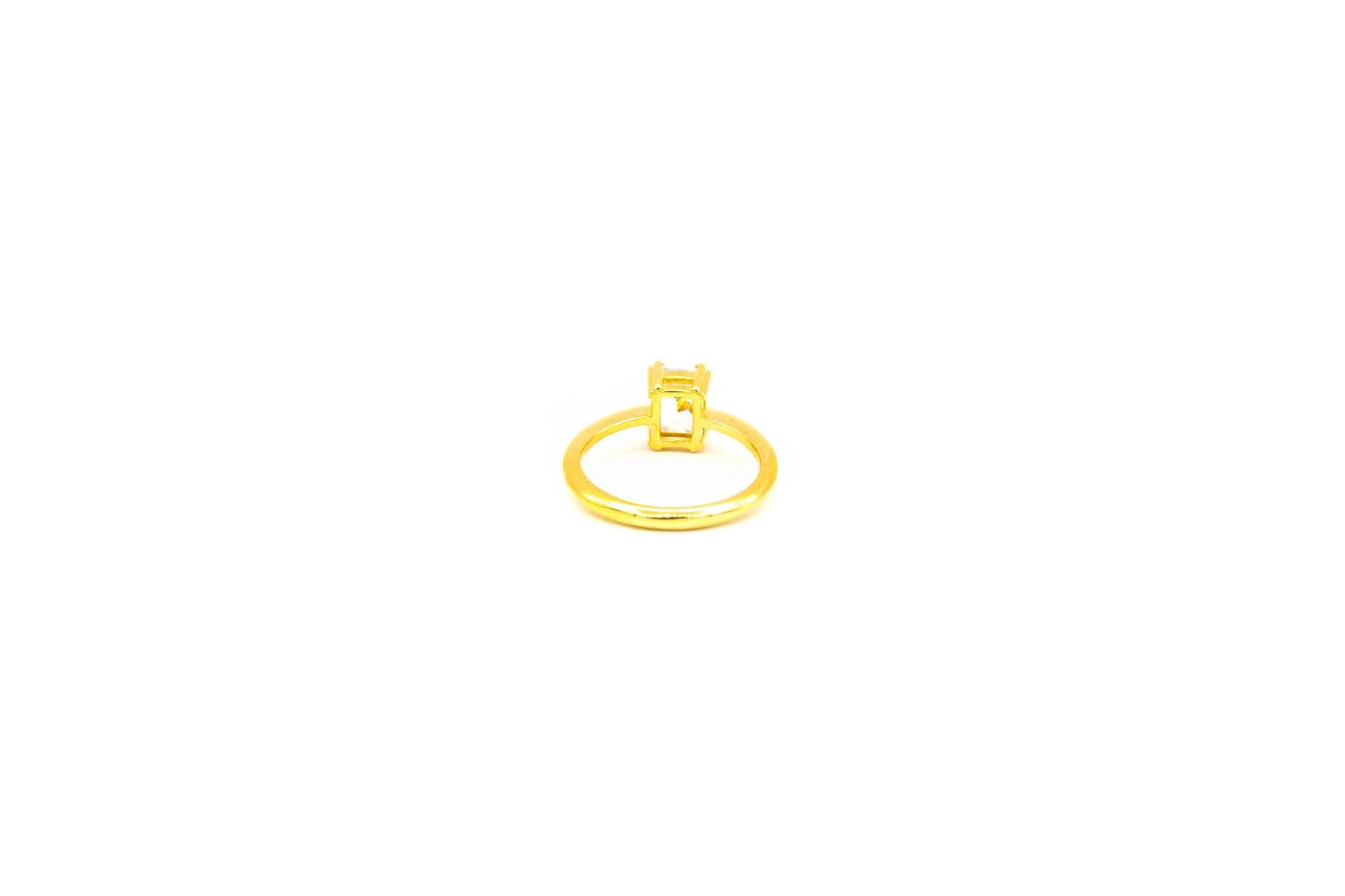 Ring solitair met zirkonia-3