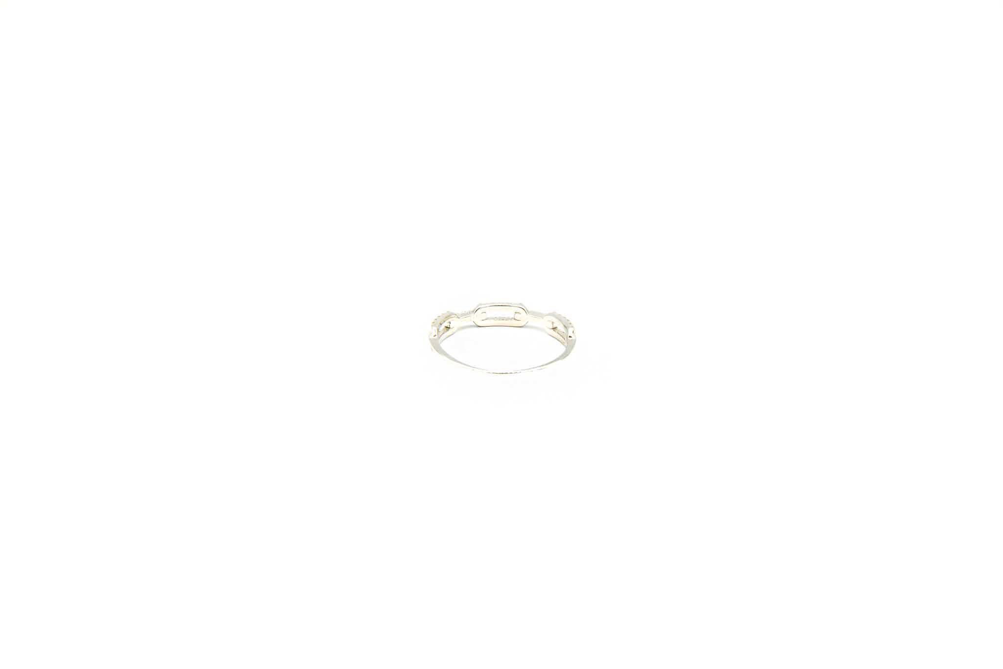 Ring witgoud open patroon bezet met zirkonia's-3