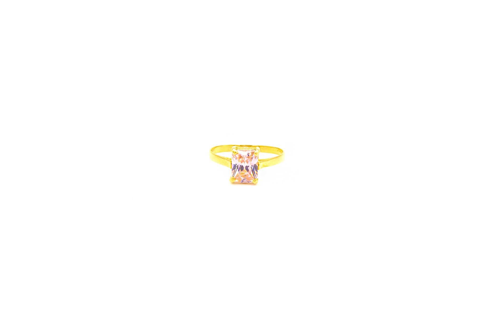 Ring solitair met roze zirkonia-1