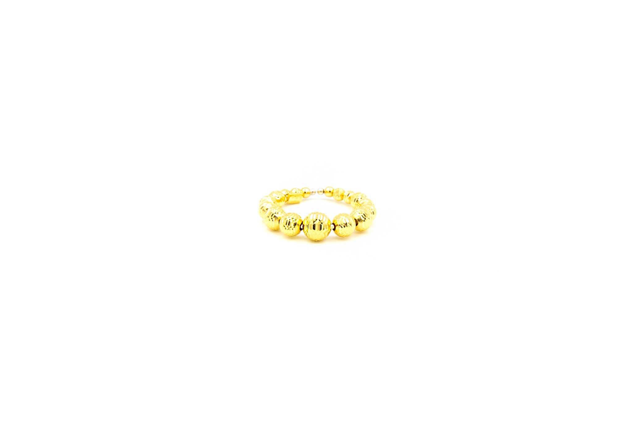 Ring met diamond cut balletjes-1