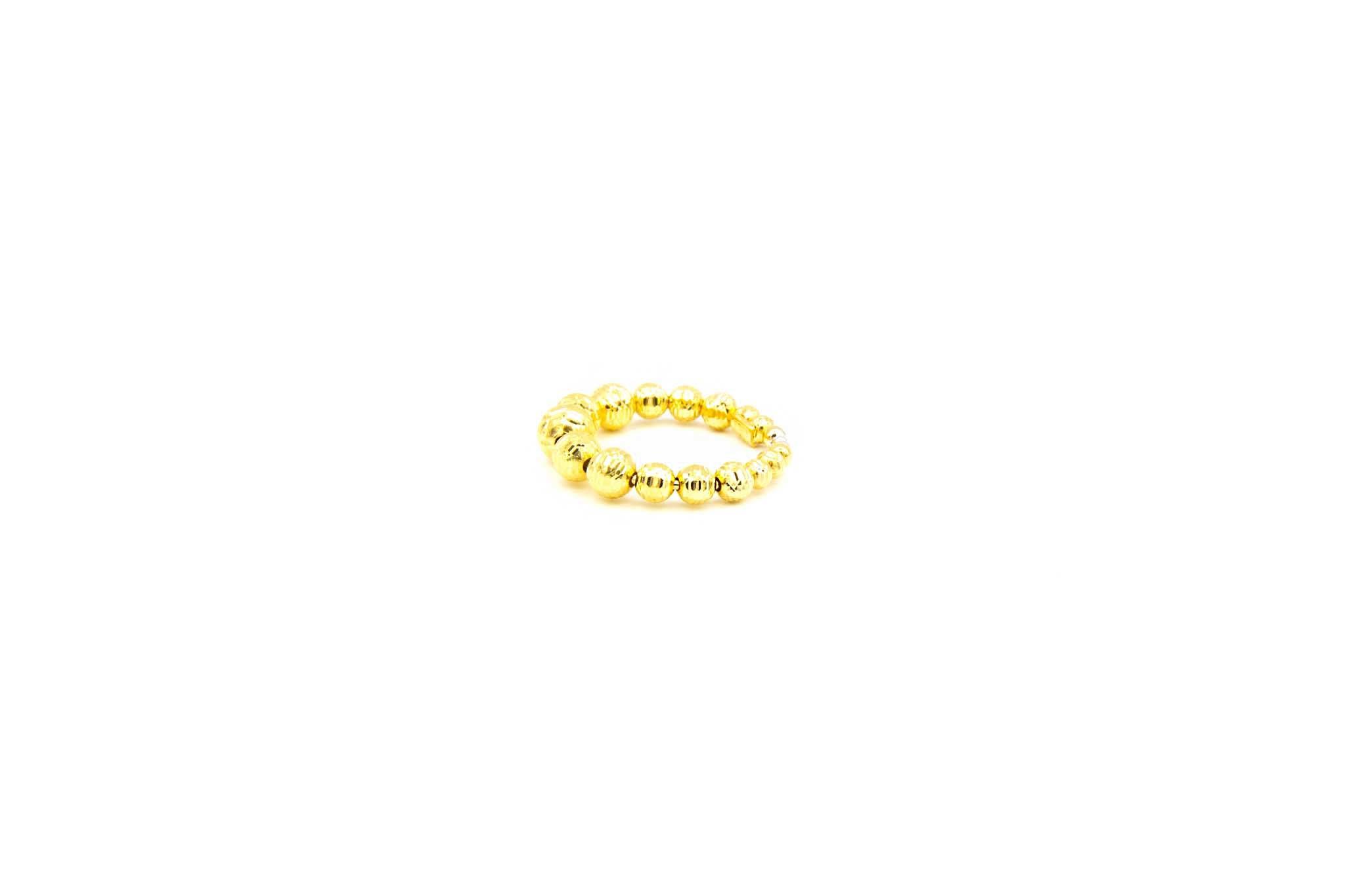 Ring met diamond cut balletjes-2