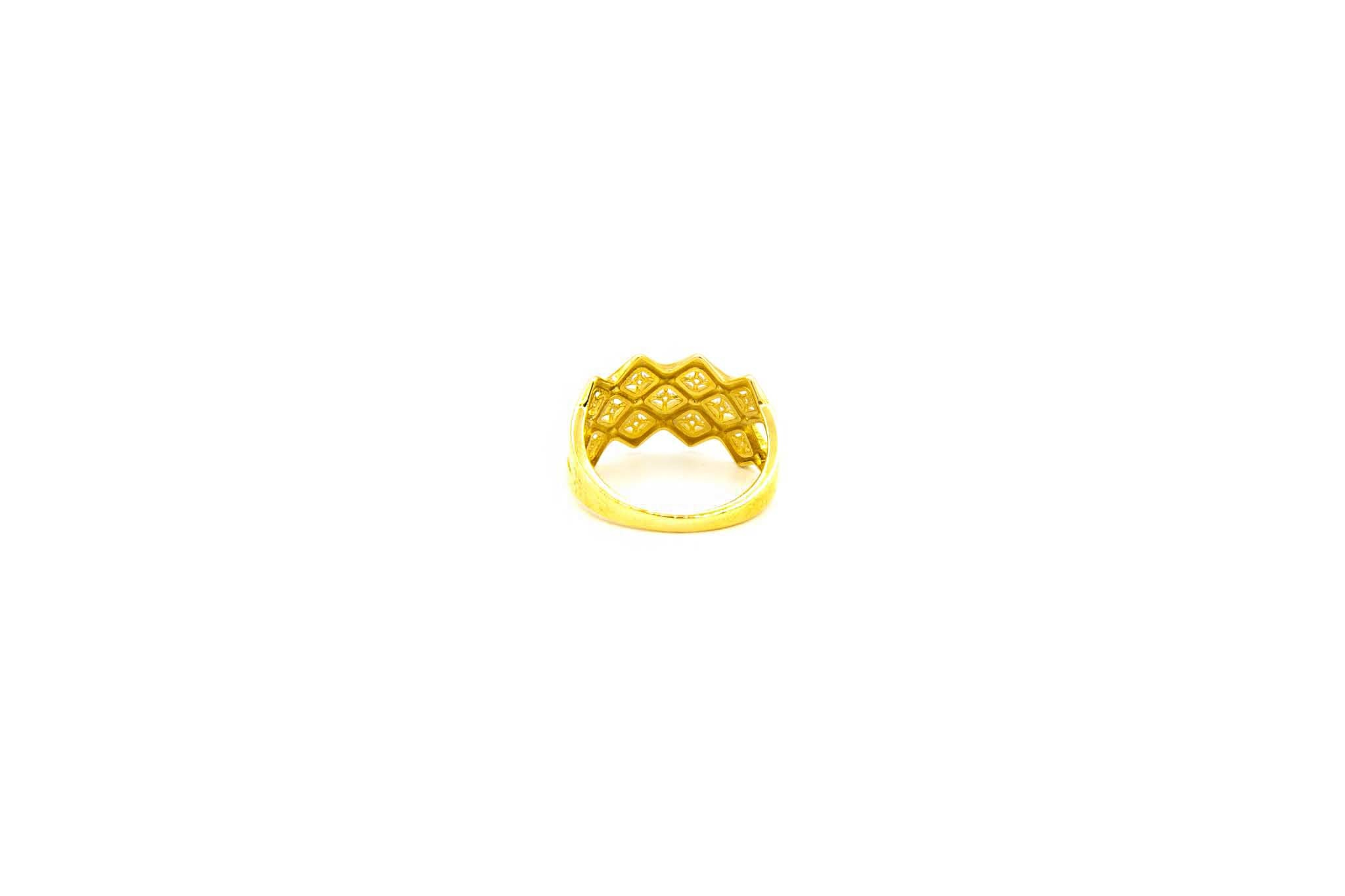 Ring breed patroon met zirkonia's-3