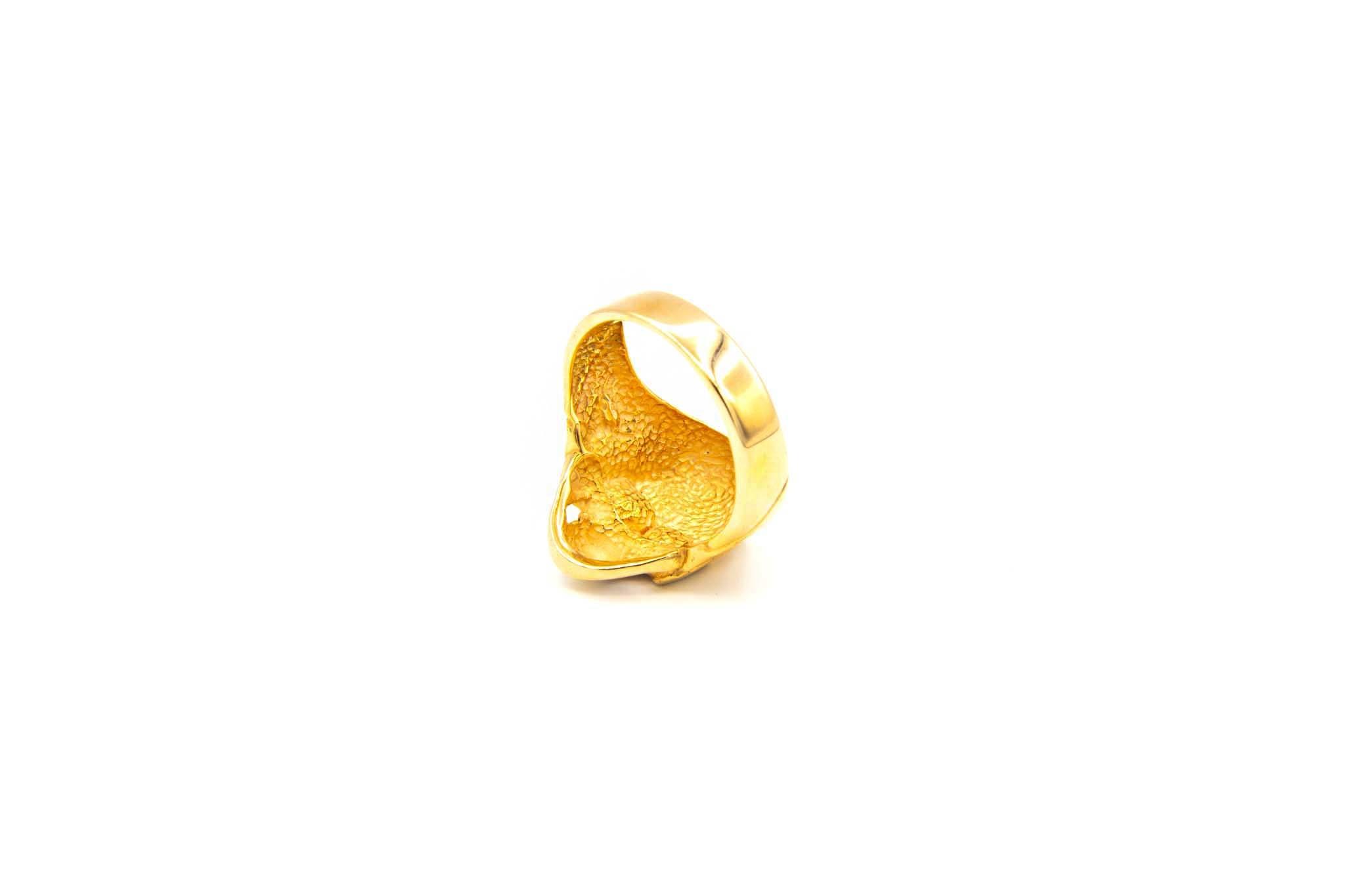 Ring skull rosé-5