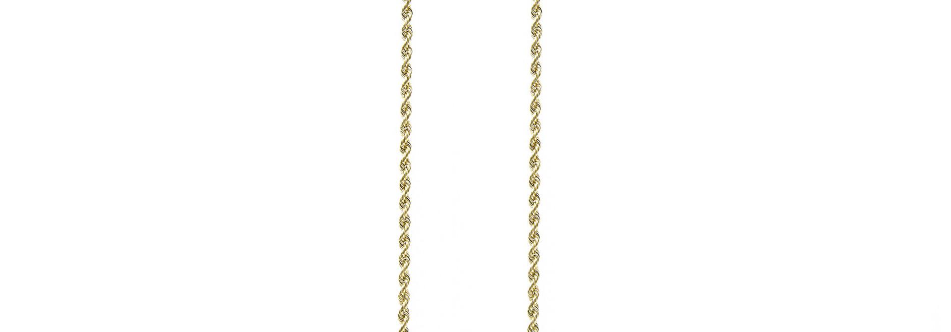Rope chain ketting massief goud 14 kt 2.5 mm