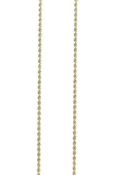 Rope chain massief goud 2.5mm