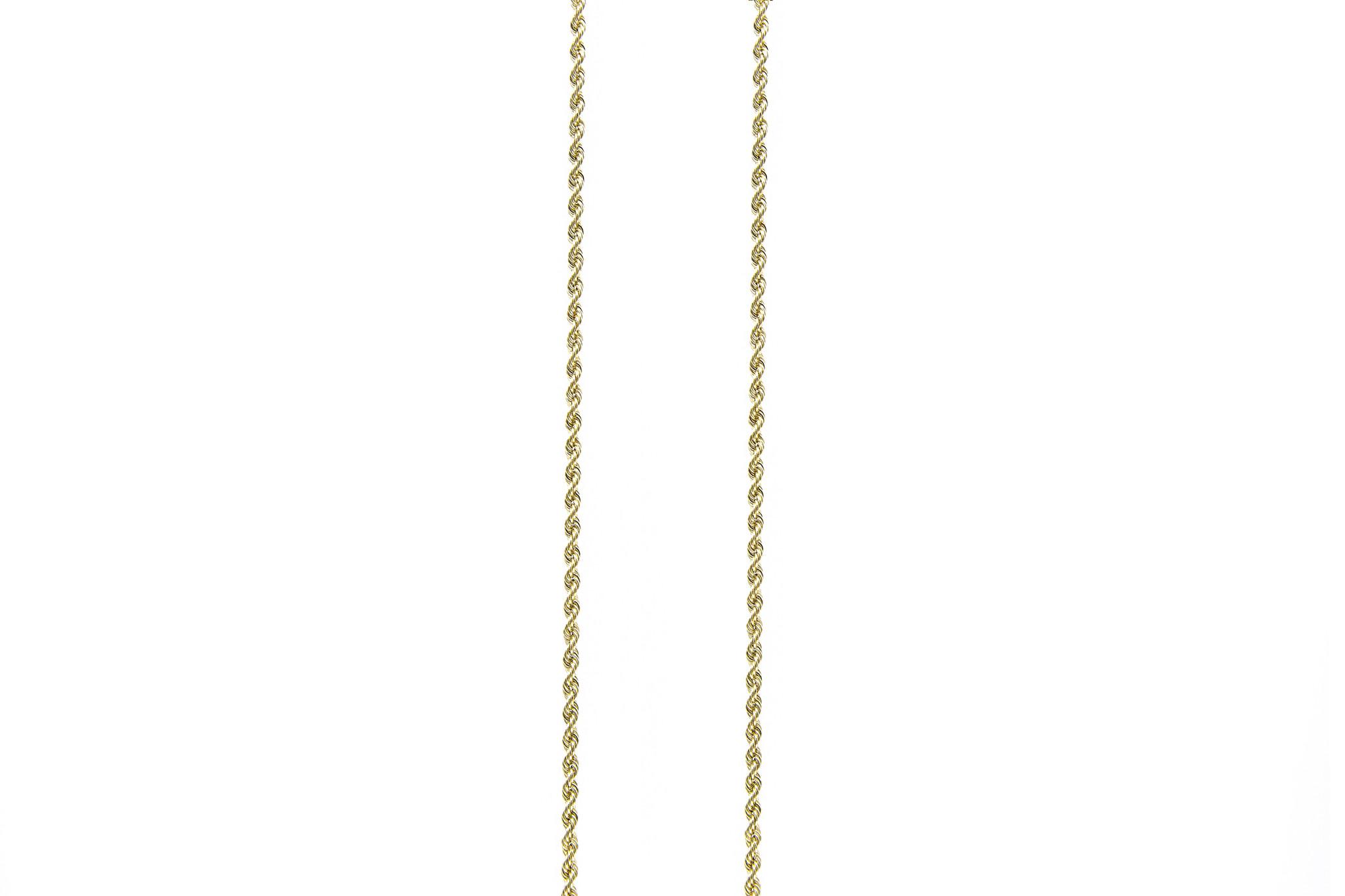 Rope chain ketting massief goud 14 kt 2.5 mm-1