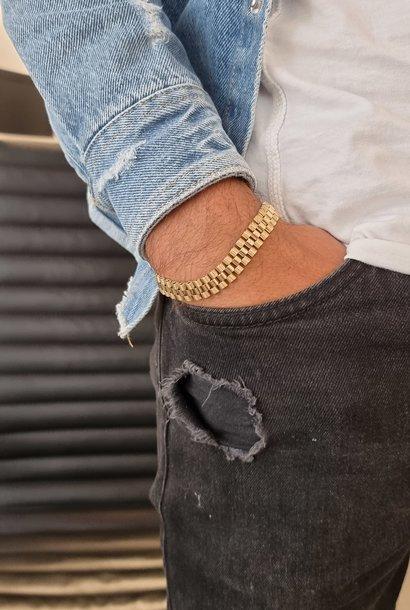 """Luc"" armband rolexschakel 10mm"