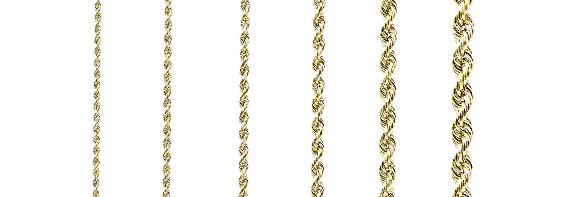 Rope armband Nederlands goud 18 kt 4mm