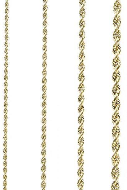 Rope armband Nederlands goud 4mm