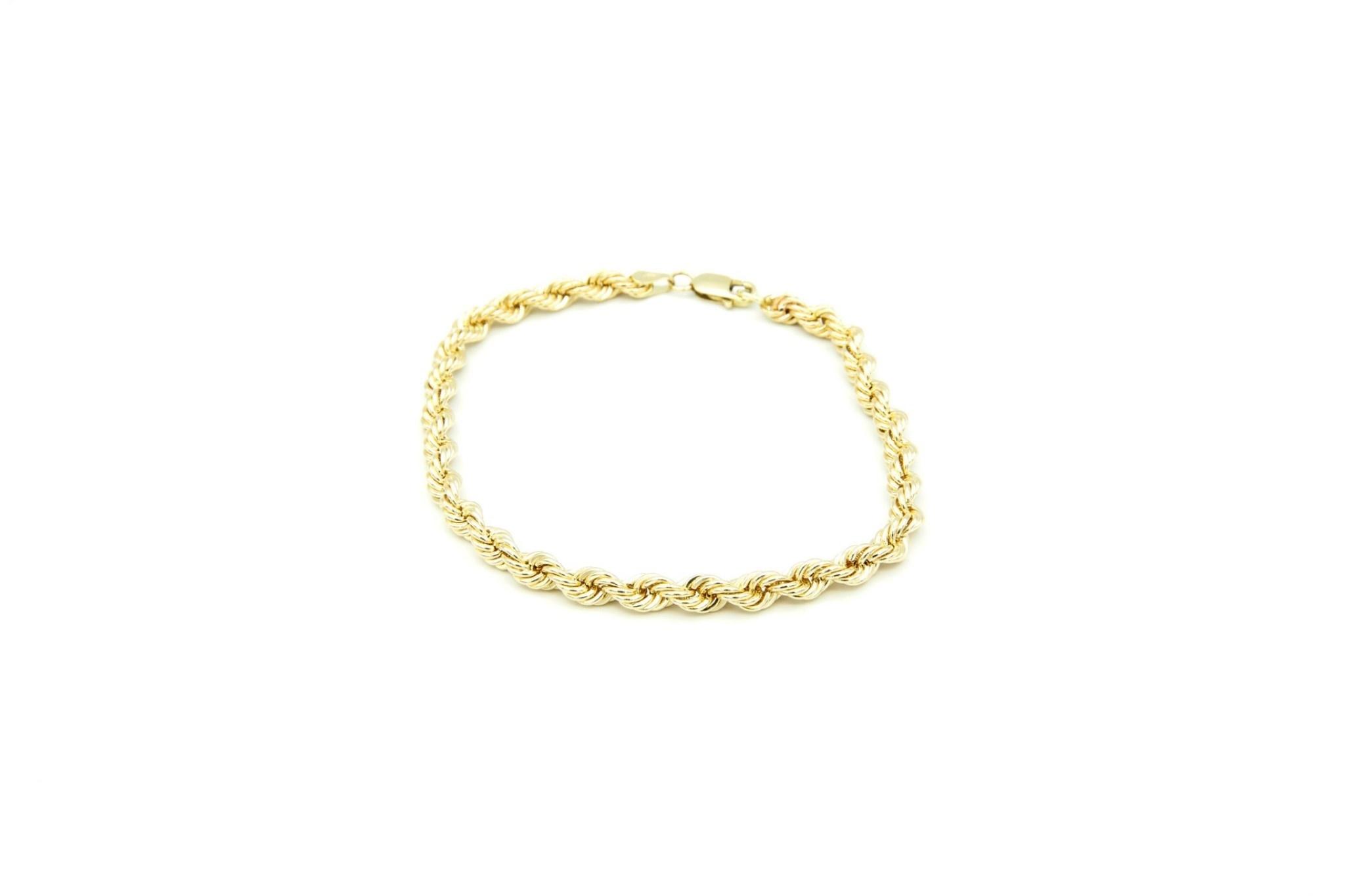 Rope armband Nederlands goud 18 kt 4mm-3