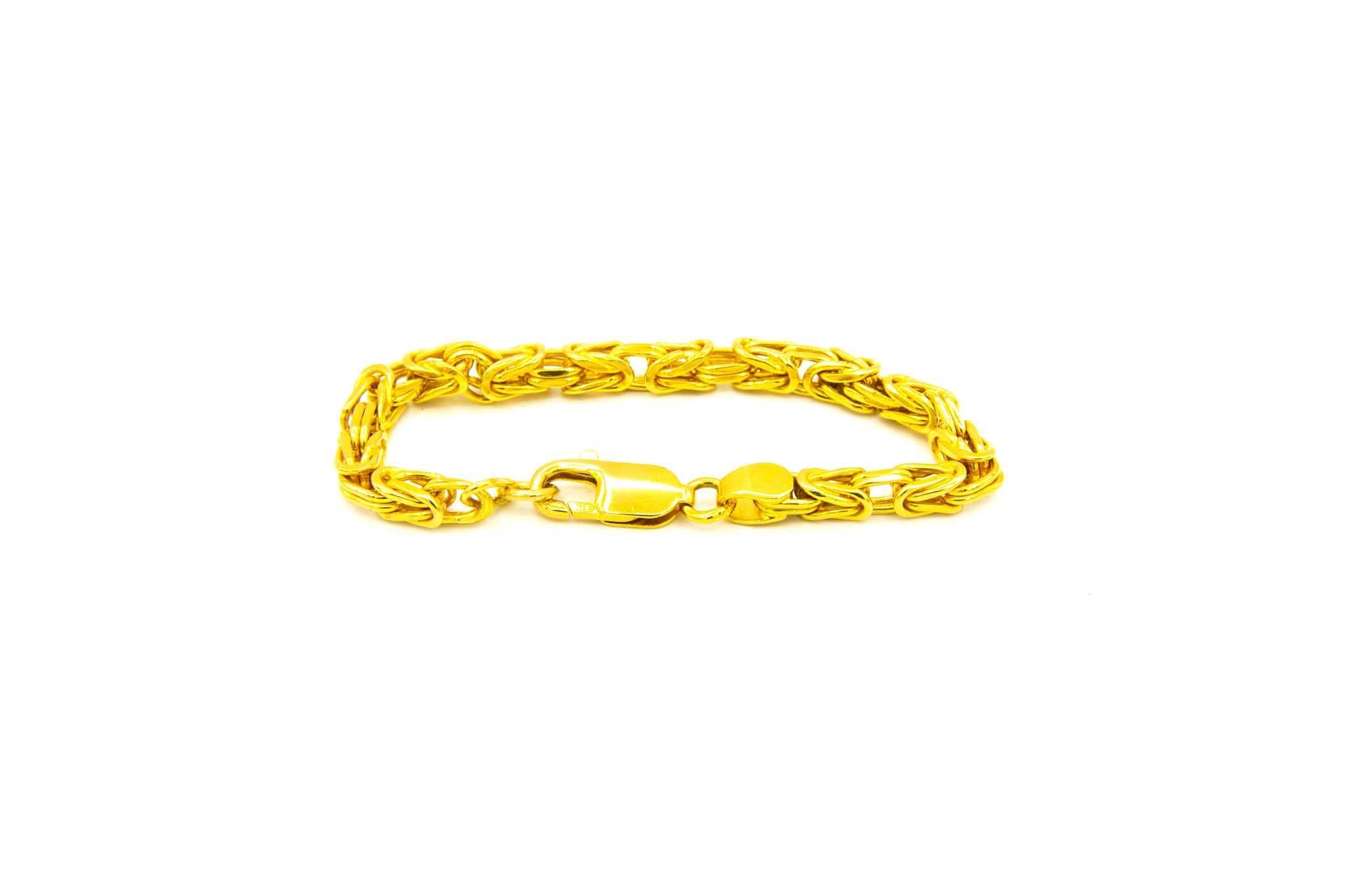 Armband met vierkante koningsschakel-2