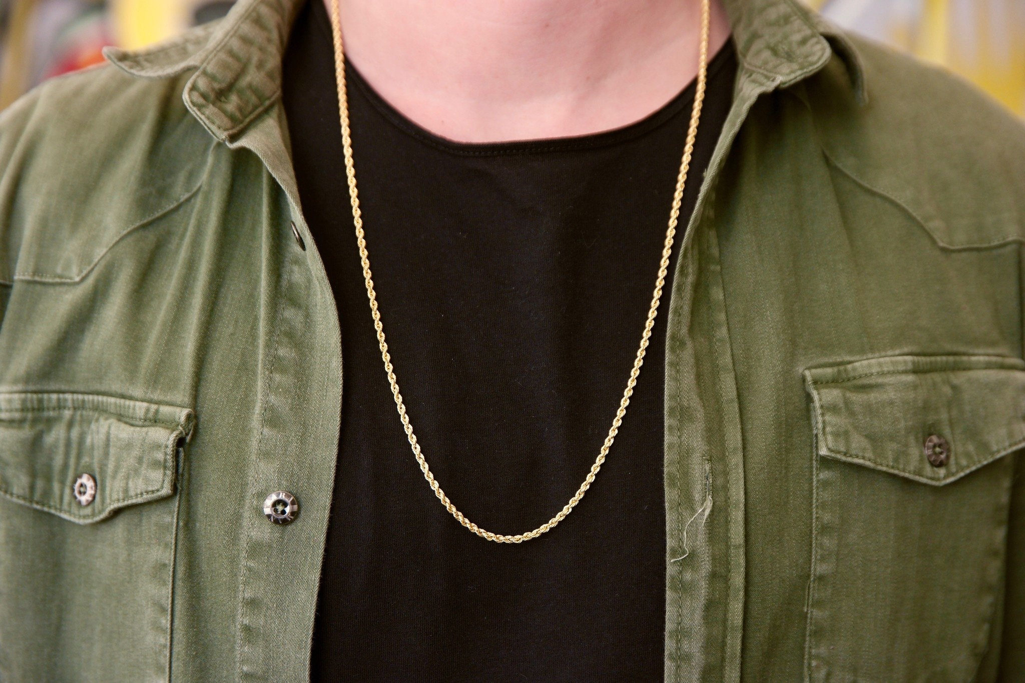Rope chain ketting massief goud 14 kt 2.5 mm-2