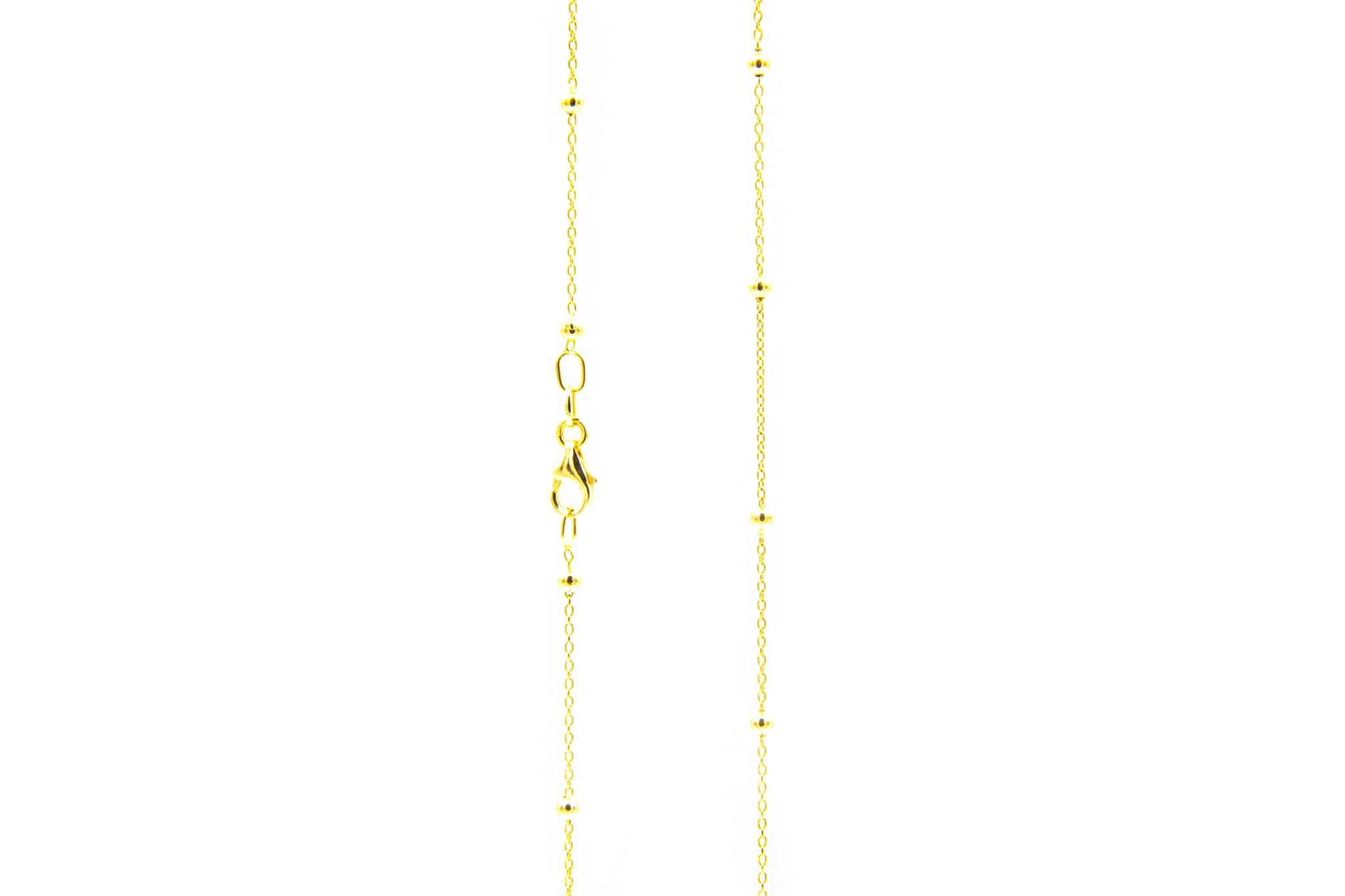 Ketting subtiele chain met balletjes-3