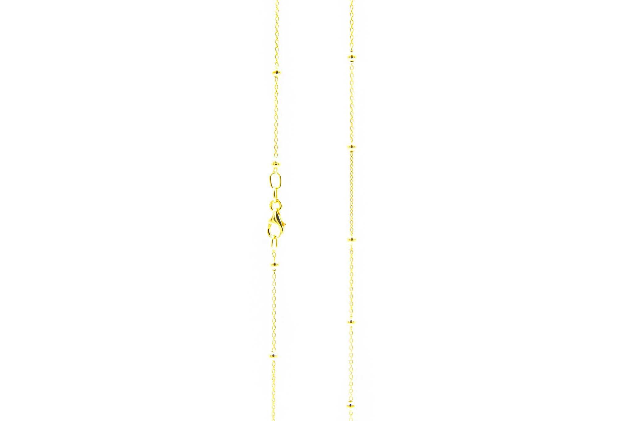 Ketting subtiele chain met balletjes-4