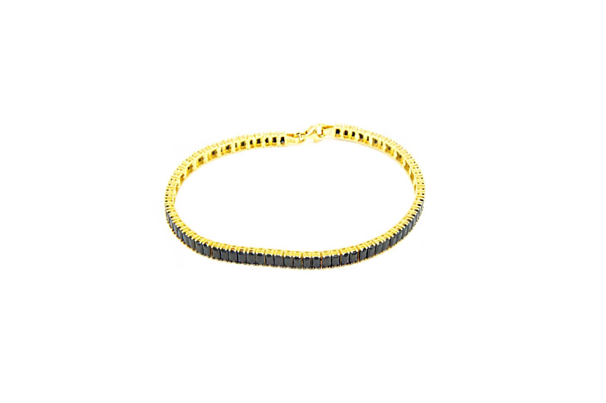 Armband tennisband met zwarte zirkonia's-1