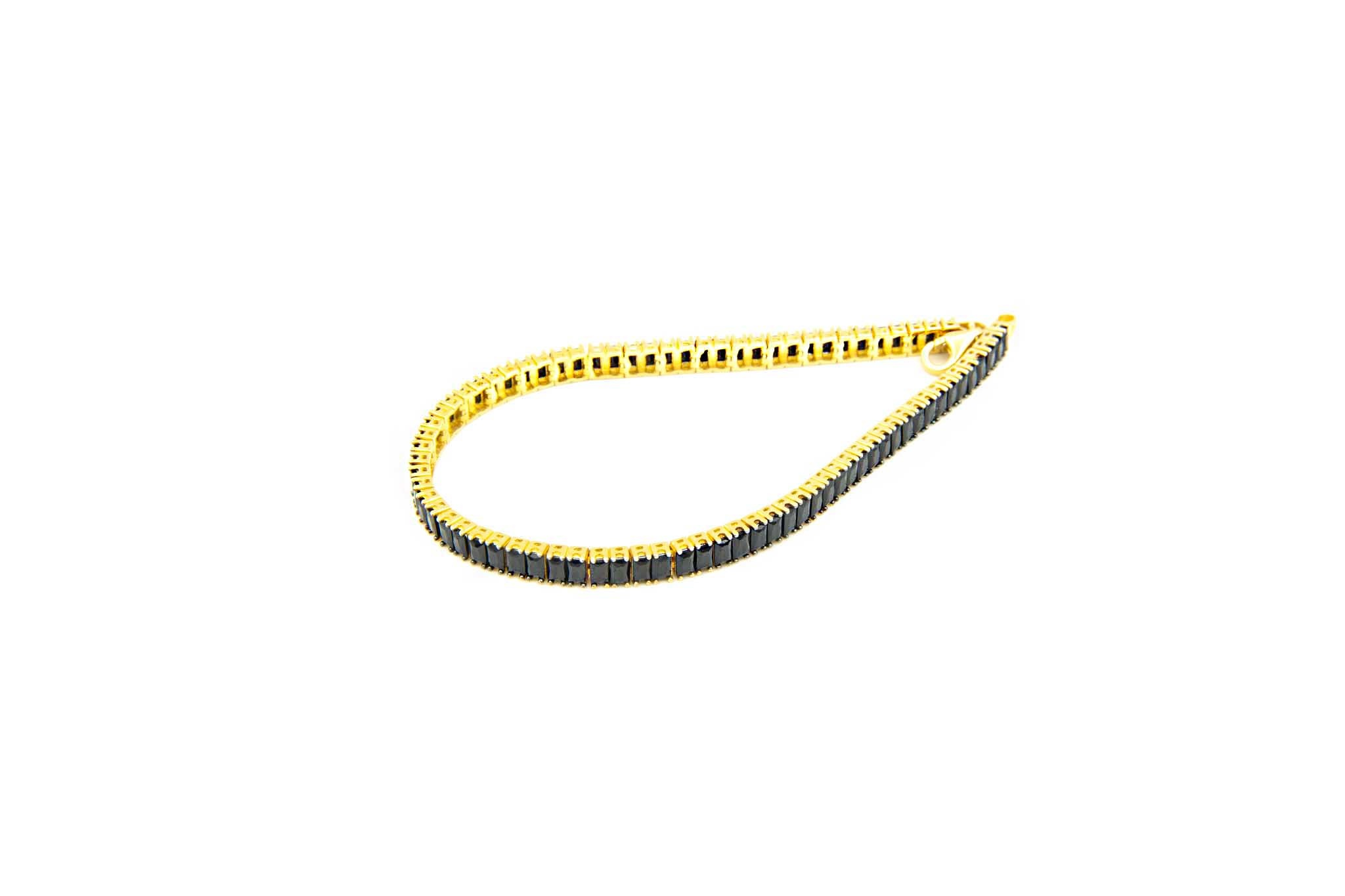 Armband tennisband met zwarte zirkonia's-2