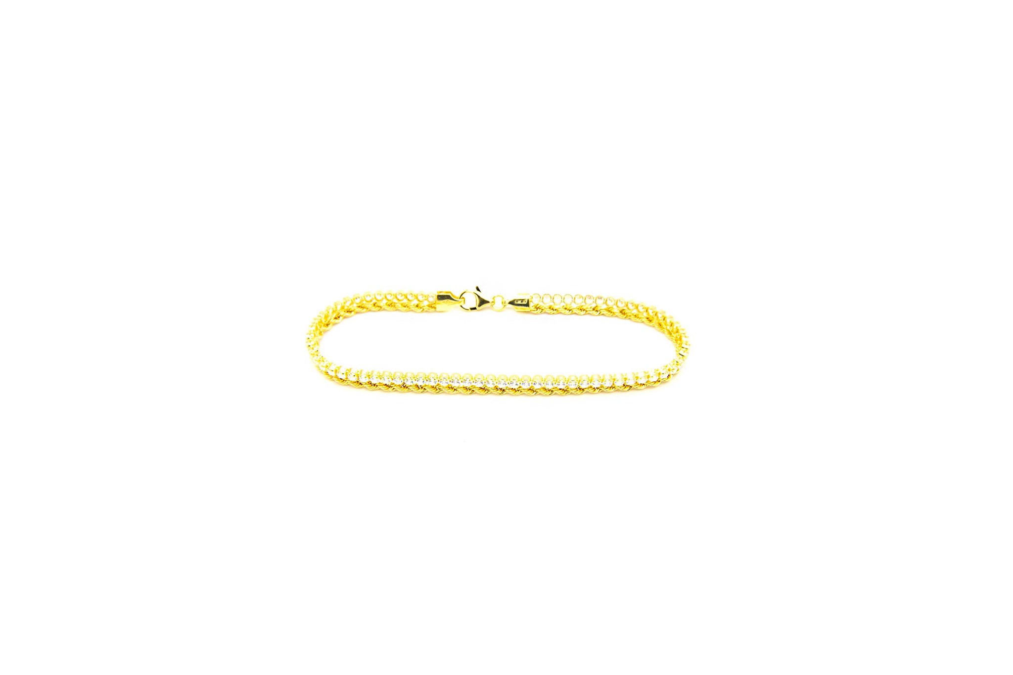 Armband 1 rope chain en 1 zirkonia rij-1