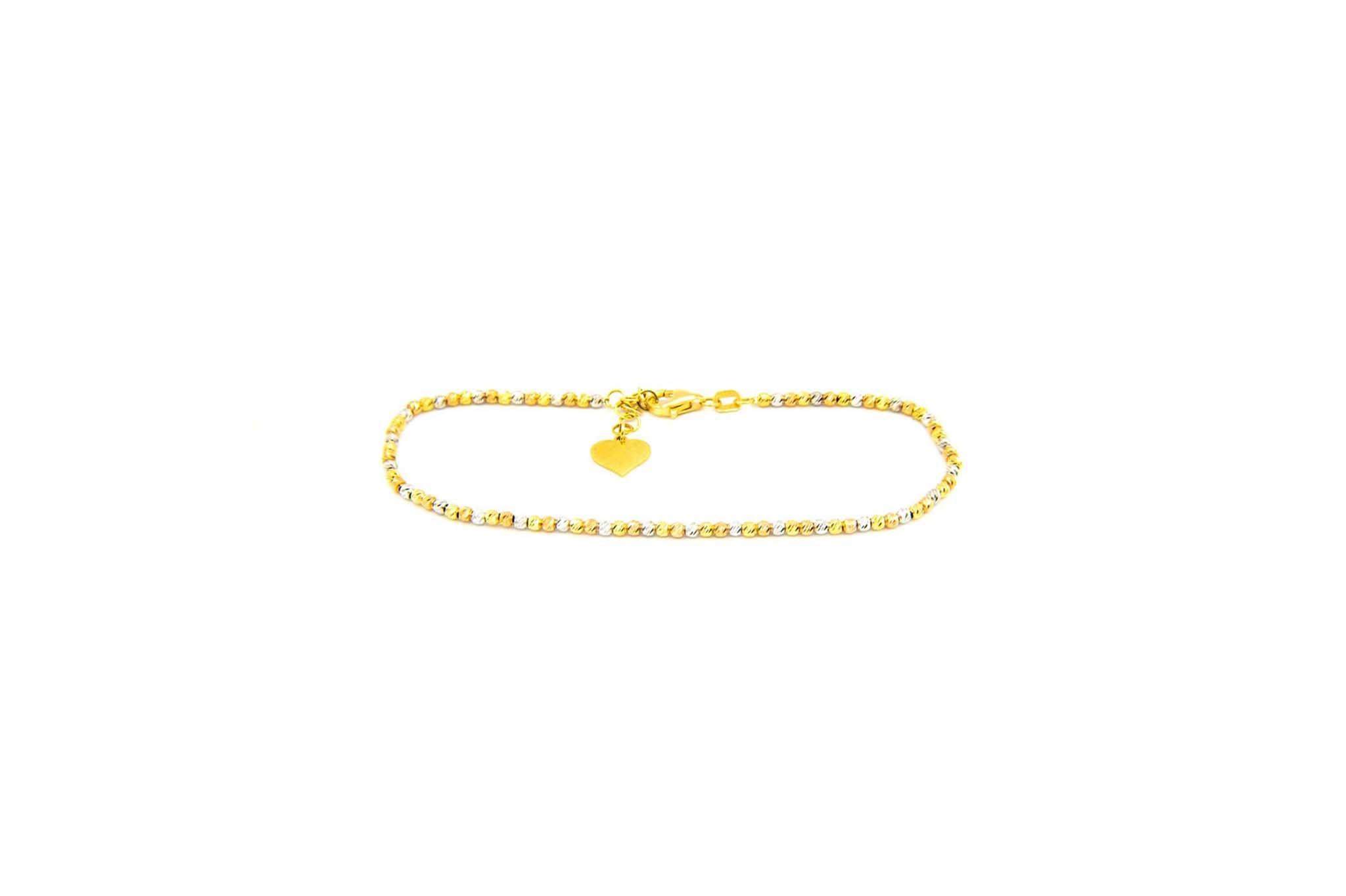 Armband diamond cut balletjes tricolor-1