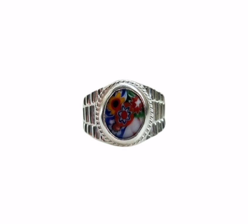 Zegelring Ala Kondre ovaal zilver-2