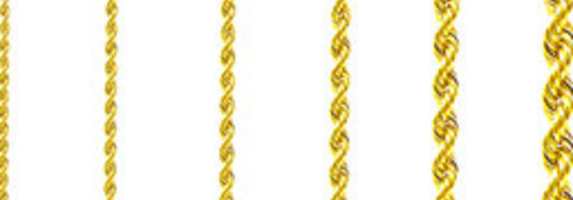 Rope chain Surinaams goud 14kt 3mm