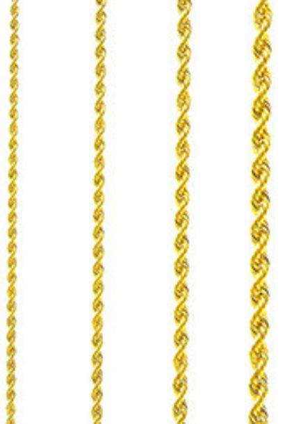 Rope chain Surinaams goud 3mm