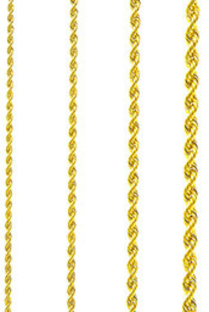 Rope chain Surinaams goud 2mm