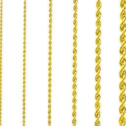 Rope chain Surinaams goud 14kt 2mm-1