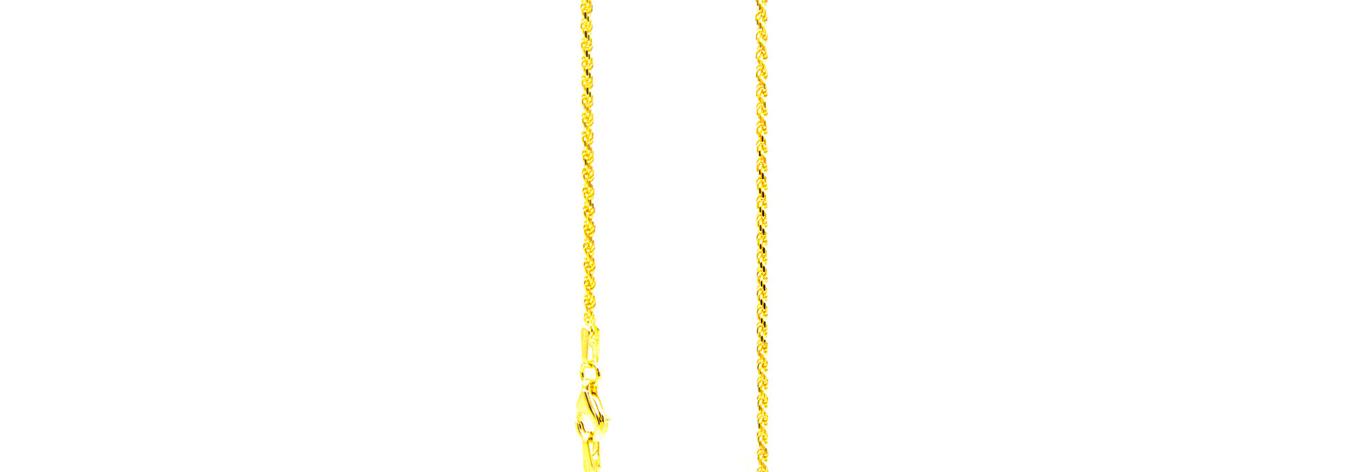 Rope chain cubic massief goud 18k 2mm