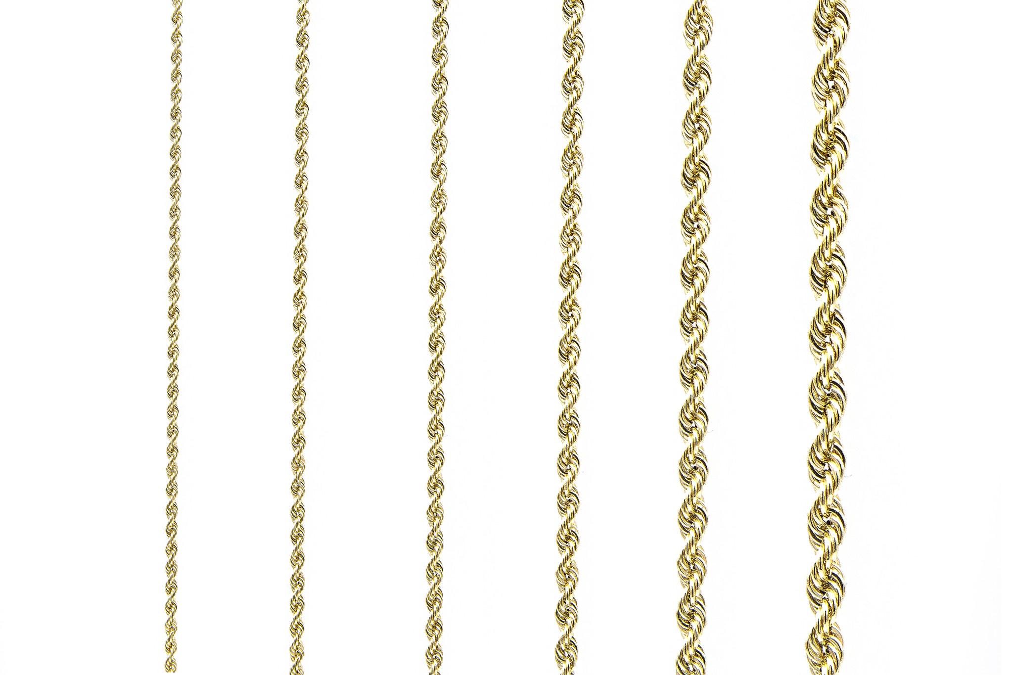 Rope armband Nederlands goud 18 kt 3mm-1