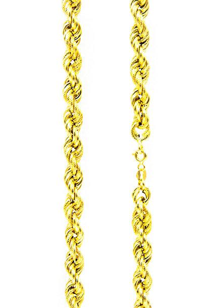 Rope chain diamond cut 6mm