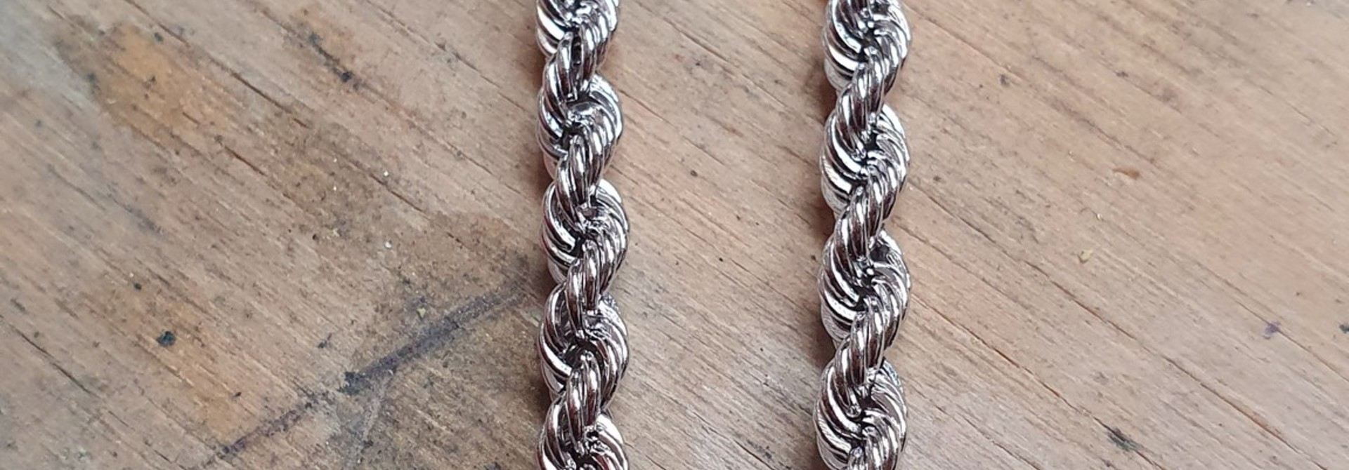 Rope chain witgoud 14kt 3.5mm