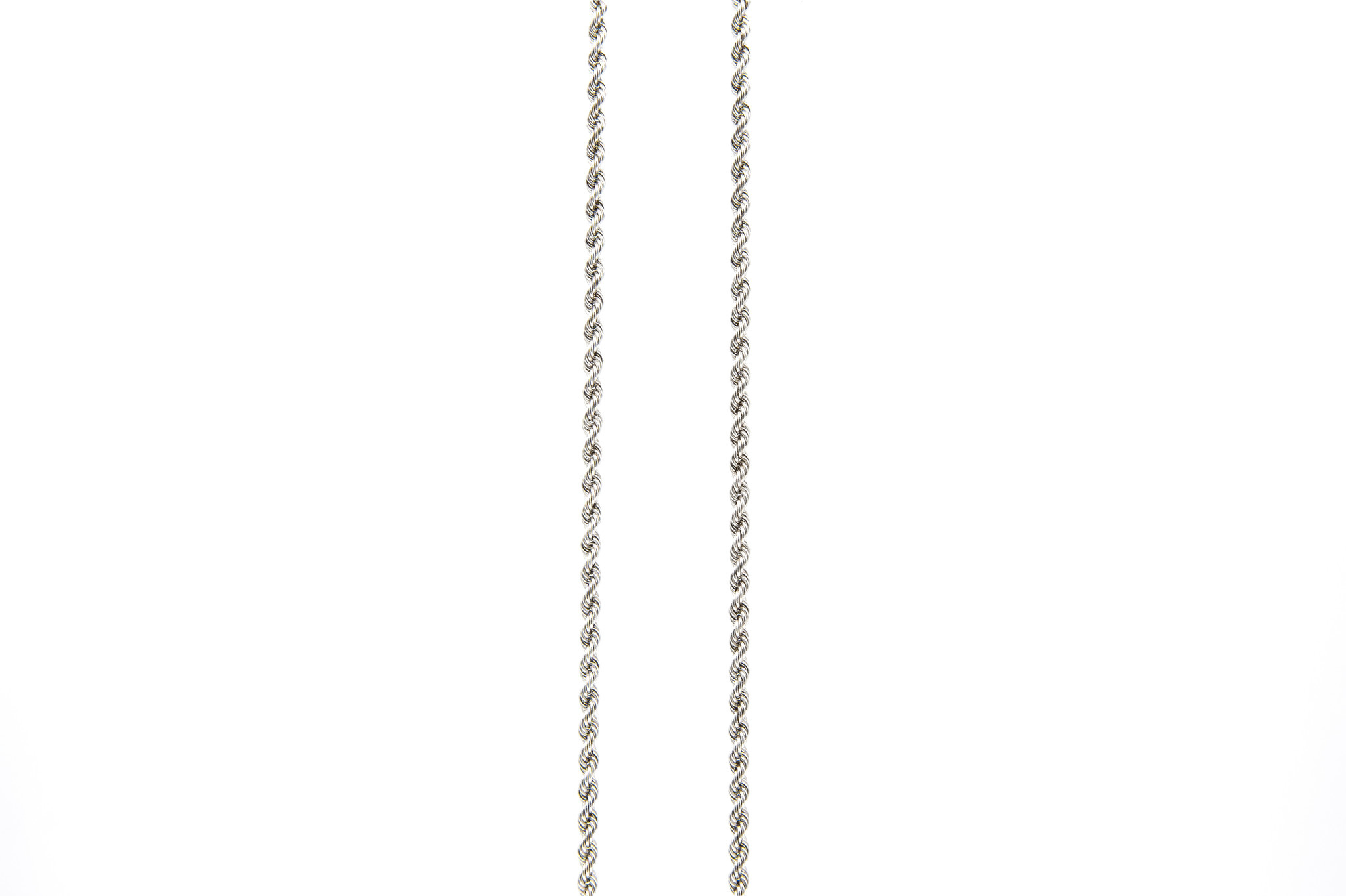 Rope chain witgoud 14kt 3.5mm-7