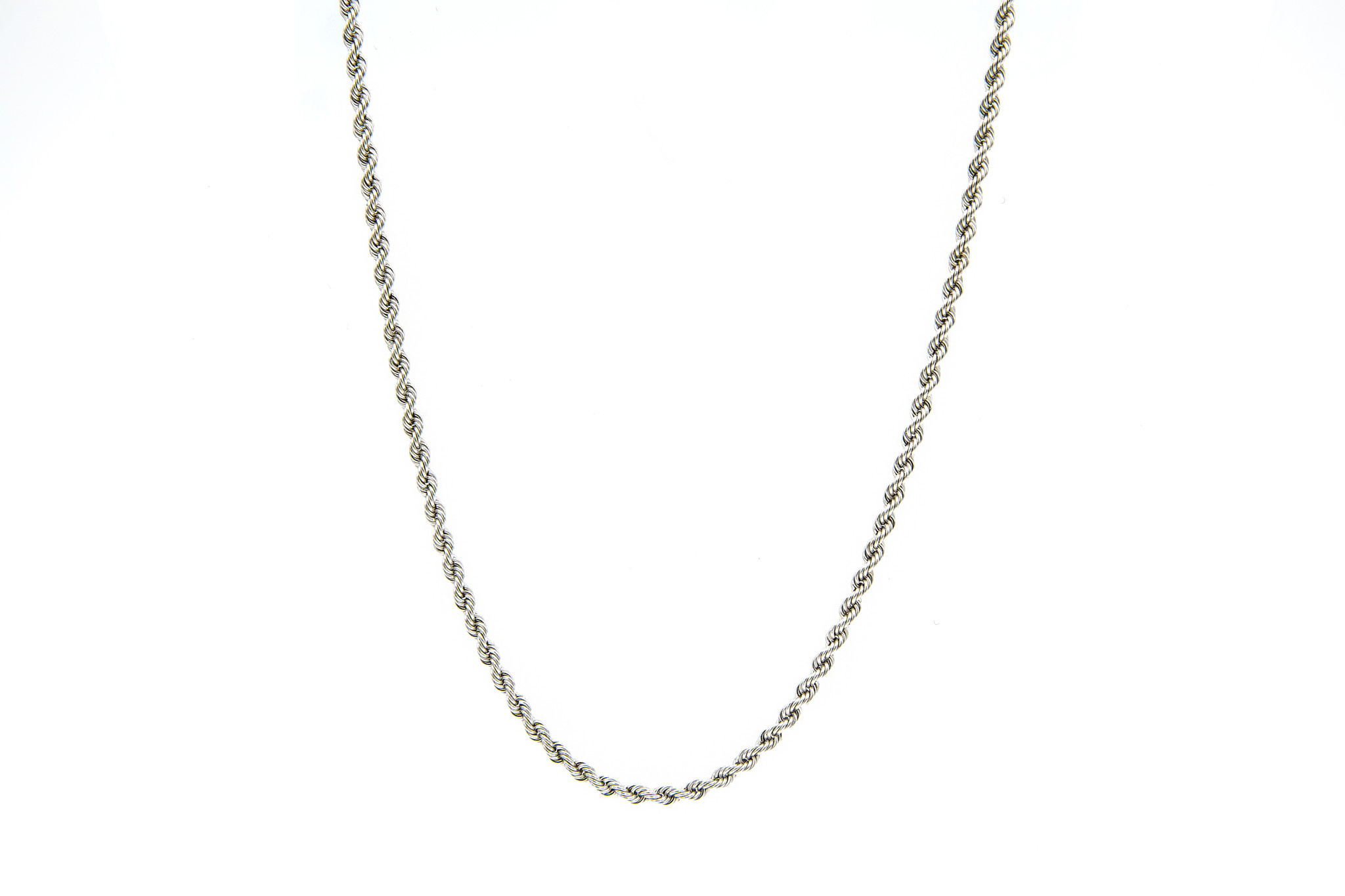 Rope chain witgoud 14kt 3mm-6