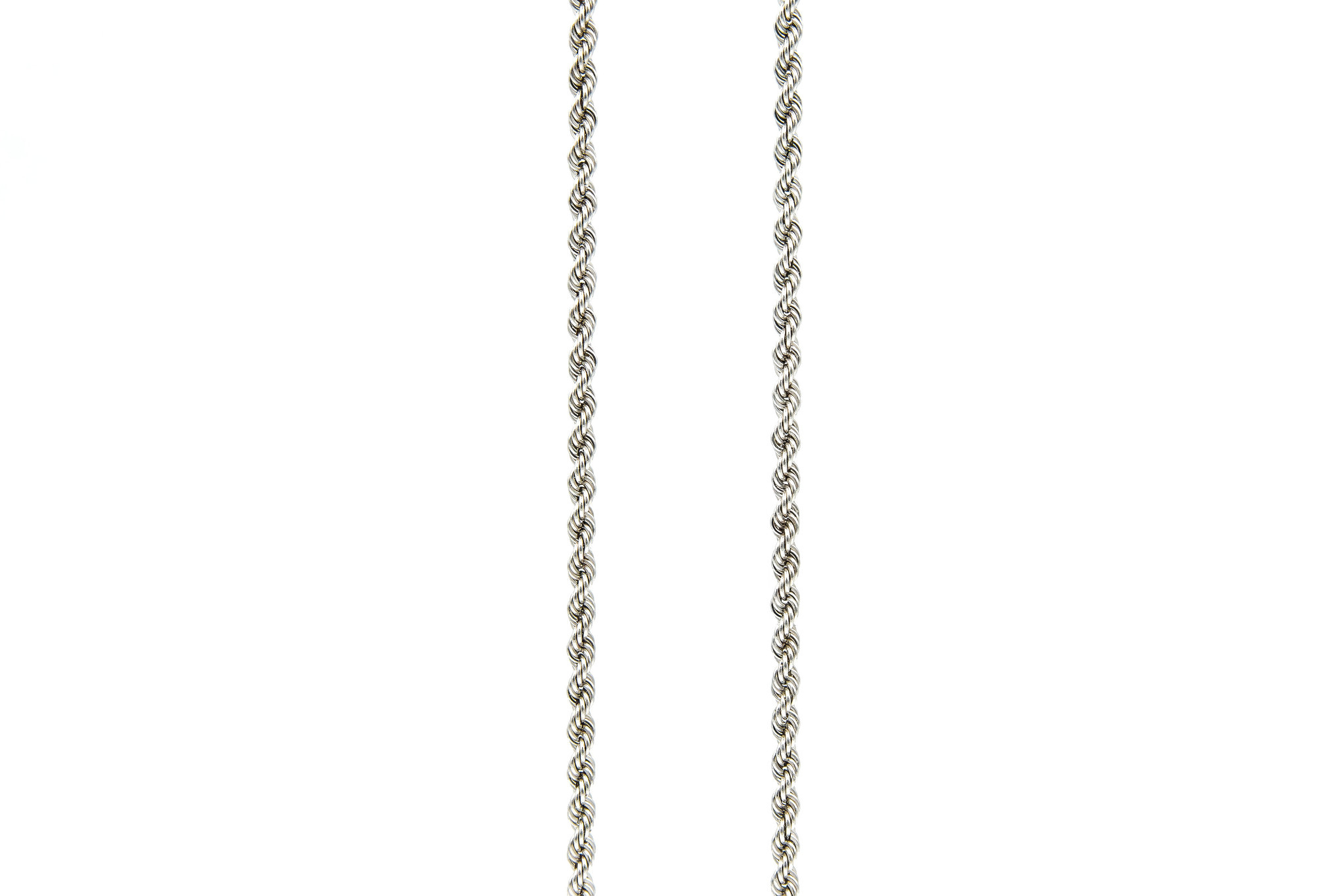 Rope chain witgoud 14kt 3mm-7