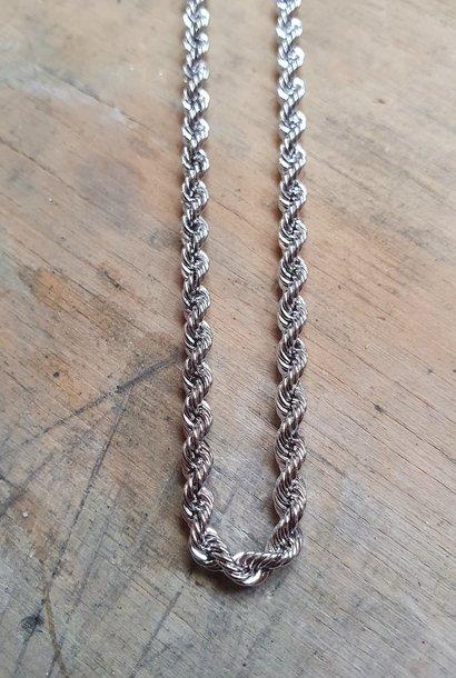 Rope armband witgoud 2.5mm